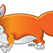 Cheerful Fox — Stock Vector #1432987
