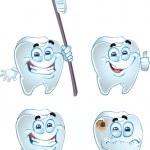Vector emotional teeth — Stock Vector