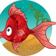Red fish. vector — Stock Vector #1433680