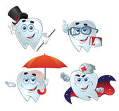 Clever teeth hurry up on help — Stockvektor
