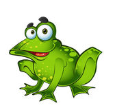 Vector smiling green frog — Stock Vector