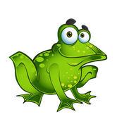 Vector gelukkig groene kikker — Stockvector