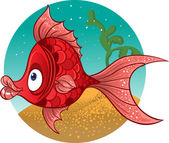 Red fish. vector — Stock Vector