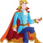 Prince ask charming princess hand — Stock Vector