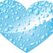 Heart from water drops — Stock Vector
