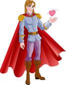 Charming prince — Stock Vector