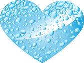 сердце из капель воды — Cтоковый вектор
