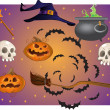 Stock Vector: Halloween objects