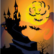Royalty-Free Stock Vector Image: Halloween castle