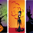 Stock Vector: Vector halloween banners