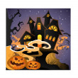 Royalty-Free Stock Vector Image: Halloween landscape