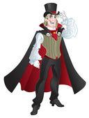 Charming vampire — Stock Vector