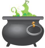 Vektor koppar med trolldryck — Stockvektor