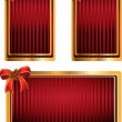 Vector set of red tags with bow — Stock Vector