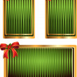 Vector set of green tags with bow — Image vectorielle