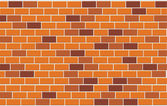 Wall of capacity brick. vector illustrat — Stock Vector