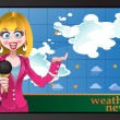 Vector weather news — Stock Vector