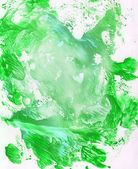 Bright green gouache painting — Stock Photo