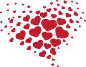 Corazón de corazones — Vector de stock