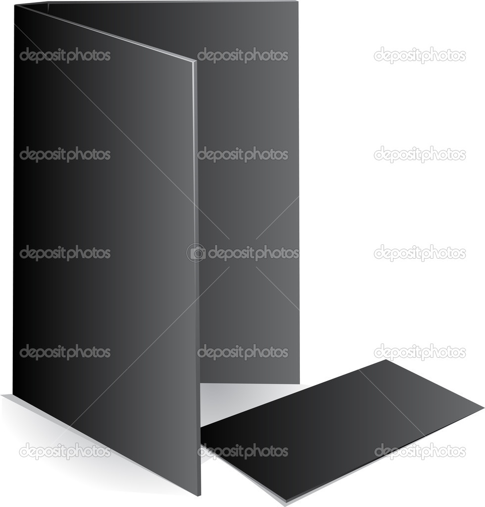 Background black visit card and document case — Stock Vector #1926566