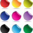 Color bright glossy stickers — Stock Vector