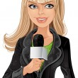 Reporter blond girl — Stock Vector #2562461