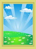 Fairytale landscape — Stock Vector