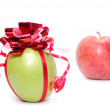 Stock Photo: Cristmas apple.