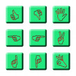 Stock Photo: SIMPLE HAND SIGNAGES
