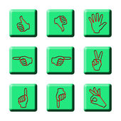 SIMPLE HAND SIGNAGES — Stock Photo