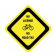 BICYCLE (NO LICENSE NO ROAD TAX) — Stock Photo