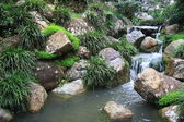 JAPANESE TEA GARDEN - WATERFALL — Stock Photo