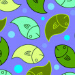 Royalty-Free Stock Photo: Retro Fish Pattern