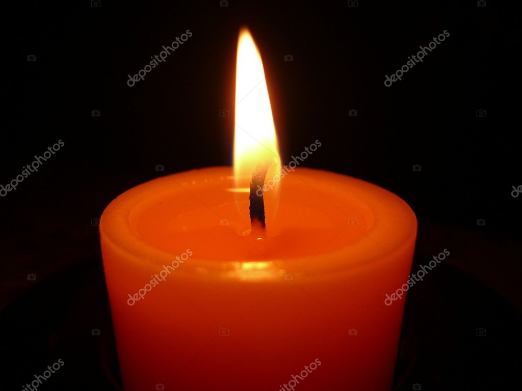 Flame of the candle  Stock Photo #1415426