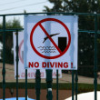 Stock Photo: No diving