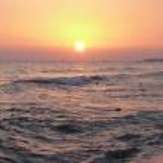 Sunset in mediterranean sea — Stock Photo