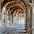 arch gallery in ancient amphitheater — Stock Photo