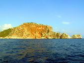 Alania - Cape in mediterranian sea — Stock Photo