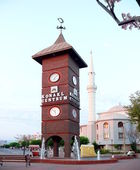Tower with clock - Konakli, Turkey — Stock Photo