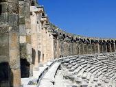 Old greek amphitheater Aspendos — Stock Photo
