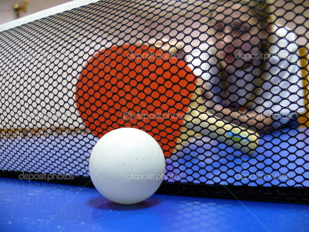 Pingpong ball and racket — Stock Photo #1432907