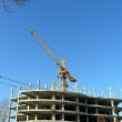 Foto Stock: Tower crane in city