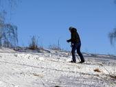 Lyžařské horolezec — Stock fotografie