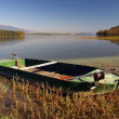 Boat by lake — Stock Photo #2232586