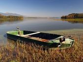 Boat by the lake — Stock Photo