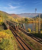 Railroad bridge — Stock fotografie
