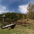 Ancient wooden fort — Stock Photo
