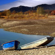 Two boats and lake — Stock Photo