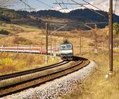 Railroad & Train — Stock Photo
