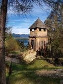 Ancient wooden fortification — Stock Photo